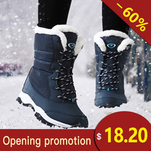 Women Winter Boots Shoes 눈 Boots Women Warm 겨울 플랫폼 Warm Boots women 눈 boots 방수 따뜻한(China)