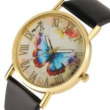 09fa9886d98 Mulheres Relógios de Couro Genuíno de alta Qualidade Quartz Número Roman  Relógio de Pulso Exclusivo Dial