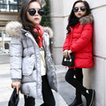 The new winter children Korean girls coat thick jacket in the long coat girl
