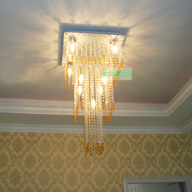 Moderne Kristall Deckenleuchte Gold Innenbeleuchtung Wohnzimmer Fhrte Quadratische Aufbau Deckenleuchten