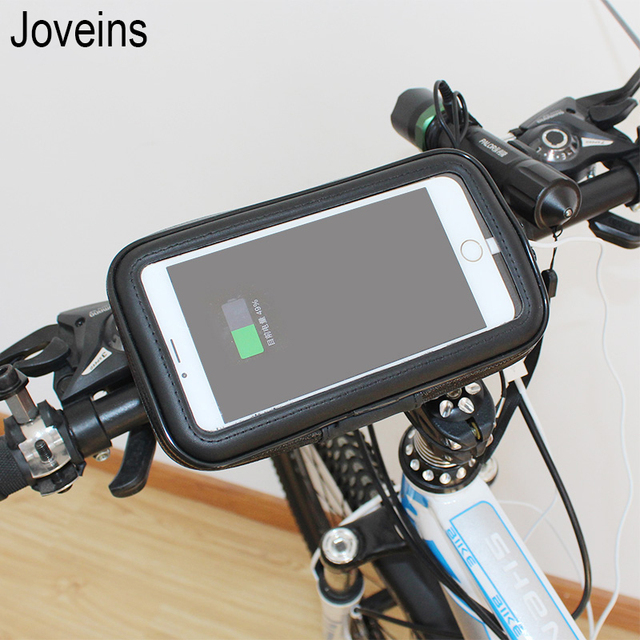 Motorcycle Bicycle Phone Holder Mobile Phone Stand Support for iPhone X 8 7 6s Plus GPS Bike Holder with Waterproof Case Bag
