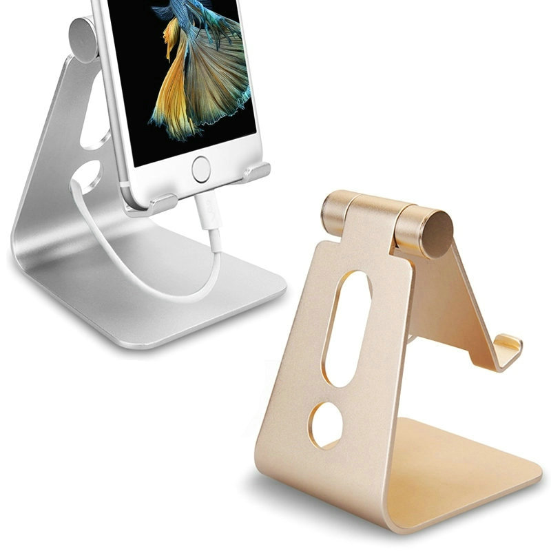 New Brand Rotatable Foldable Portable Adjustable Elegant Aluminum Holder Stand Mount For iPad iphone Smartphone Tablet