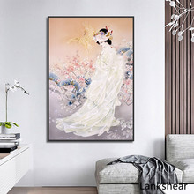 купить Chinese Style Canvas Painting Ancient Women Poster And Print Home Decoration For Living Room Wall Art Canvas HD Pictures дешево