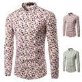 Brand New Stylish Men Shirt Long Sleeve Dress Shirt Men Colorful  Irregular Plaid Casual Camisa Slim Fit Men Social Shirt TU217