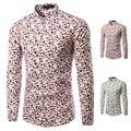 Marca Nuevo Estilo de Los Hombres Camisa de Manga Larga Camisa de Vestir de Los Hombres colorido A Cuadros Irregular Casual Camisa Slim Fit Hombres Camisa Sociales TU217
