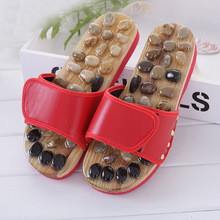 Newly Natural Pebble Stone Foot Massager Slippers Reflexology Care Blood Activating Foot Ac