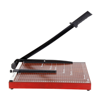 deli 15x12 inch Sturdy Metal Base Paper Cutter Trimmer Scrap Booking Guillotine