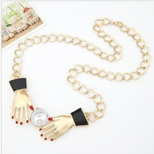 Double Hands Choker Necklace
