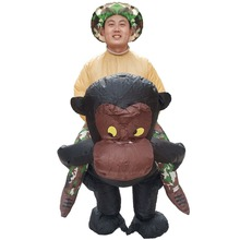 Gorilla Rider Inflatable Costumes for Adults Animal Halloween Carnival Cosplay Party Fancy Dress Women Birthday Outfit