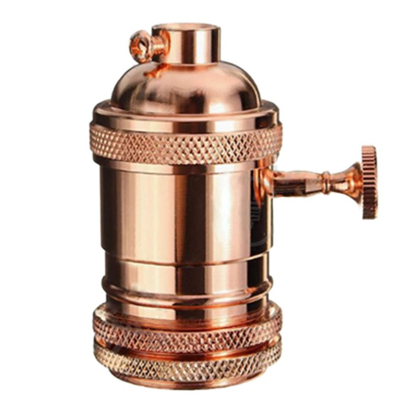 Vintage Lamps Socket E27 Screw Bulb Base Aluminum Lamp Holder Industrial Retro Pendant Fittings Lustre Lampholders Fixture