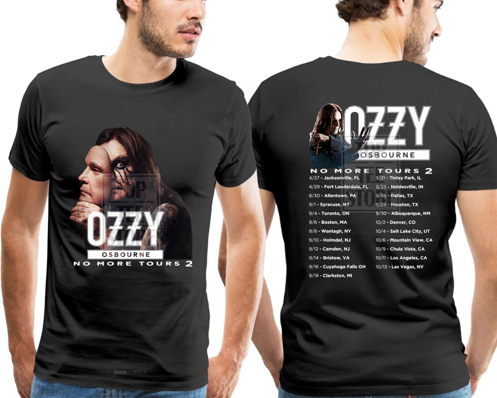 07e71339 Ozzy Osbourne Shirt Black Sabbath 2018 No More Tours 2 t shirt men ...