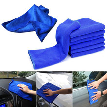 10PCS 30*30cm Blue Soft Absorbent Wash Cloth Car Auto Care Microfiber Cleaning Towels High Quality Auto Car Wash Care Products