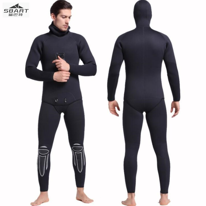 Sbart1046 3MMsurfing sun diving suit, two sets of swimming in autumn and winter, thickening warm long sleeved jellyfish clothing sbart upf50 806 xuancai