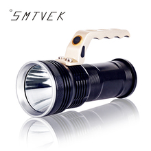 SMTVEK Powerful Aluminum Cree XM-L T6 LED Flashlight Super LM Flashlight Torch For 2*18650 Battery Handed Lantern Lamp Light