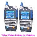 Детские Игрушки Walkie Talkie Видео Обсуждение 2 Рации с Текстом Функции Встроенная Смешные Выражения Большой Подарок для Детей дети