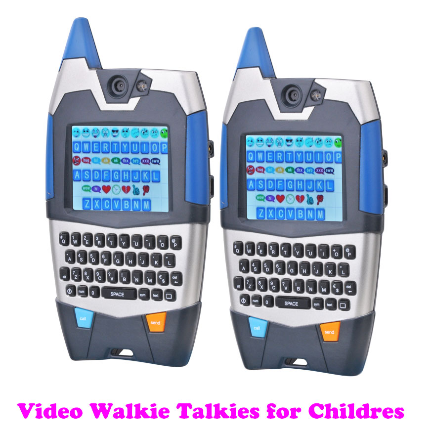 Children's Walkie Talkie Toys Video Talk 2 Way Radios With Text Function Built-in Funny Expressions Great Gift For Children Kids