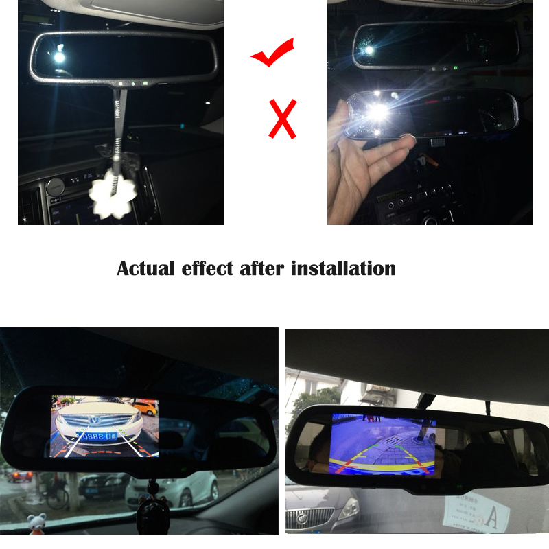 HaiSunny Dynamic Trajectory Tracks Rear View Camera With 4.3 Inch HD 800*480  Auto Dimming Rearview Mirror Monitor Karachi