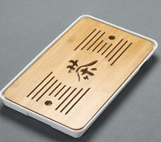 Bamboo Tea Tray Drainage Water Storage