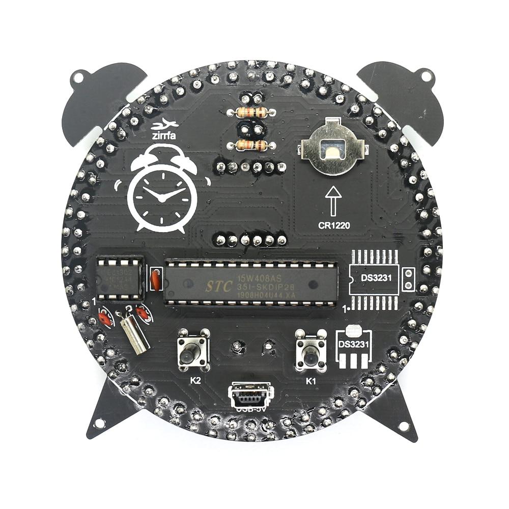 alarm clock zirrfa Rotating DS1302 Digital LED Display Module Alarm Electronic Digital Clock Temperature DIY Kit Learning Board 5V New (3)