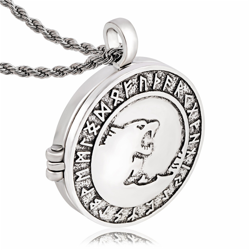 Ezei odins wolves norse rune wolf jewelry photo box pendant ezei odins wolves norse rune wolf jewelry photo box pendant necklace in pendant necklaces from jewelry accessories on aliexpress alibaba group aloadofball Choice Image