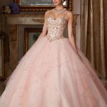 Princess Popular Puffy Ball Gown Coral Quinceanera Dresses 2018 Cheap Sweet 16