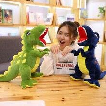 60/90 Cm Big Size Soft Dinosaur Plush Toy For Children Cartoon Animals Jurassic Park Tyrannosaurus Stuffed Toy big tyrannosaurus