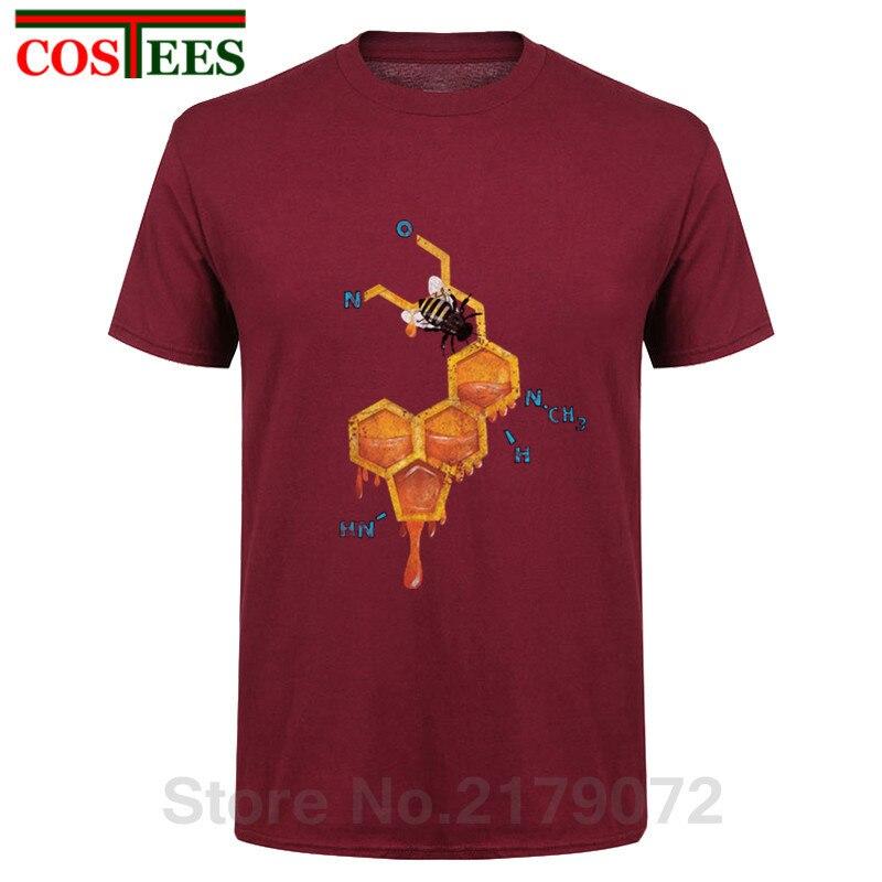 2017 Newest tshirt LSD Honey Bee Men   T     shirt   Fashion Math Formula Design tops Humor Printed   T  -  Shirt   Funny Punk Hipster tee   shirt