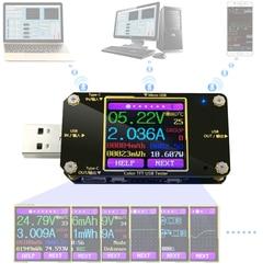 A3 USB tester Color Bluetooth Type-C Digital voltmeter dc voltage current meter ammeter detector power bank charger indicator