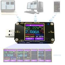 Voltímetro Digital A3 USB, medidor de corriente de voltaje CC, amperímetro, detector, indicador de cargador tipo batería externa, Color Bluetooth tipo C