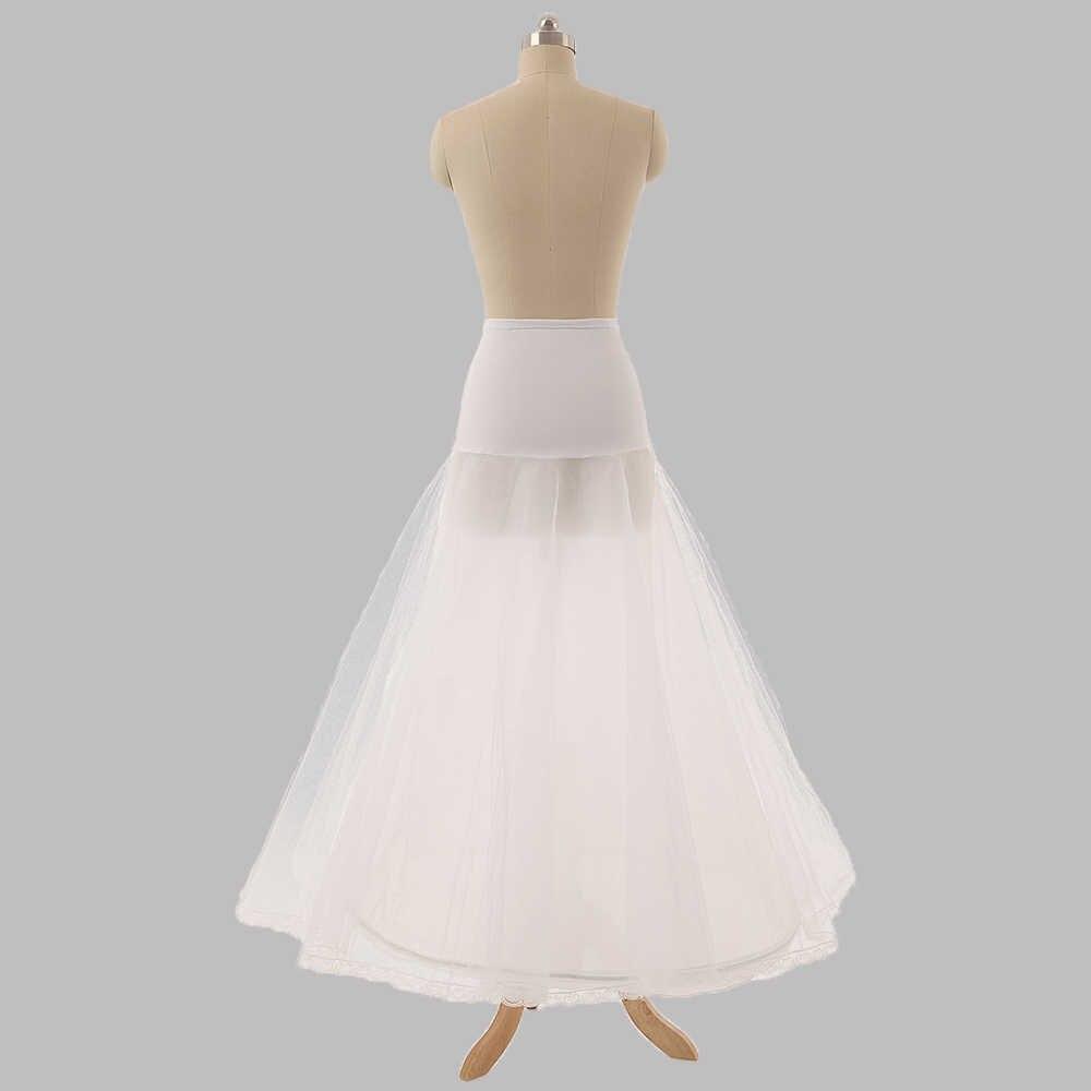 Falda larga De tul Para boda Enaguas negras A línea barata nupcial Enaguas Para Vestidos De Novia