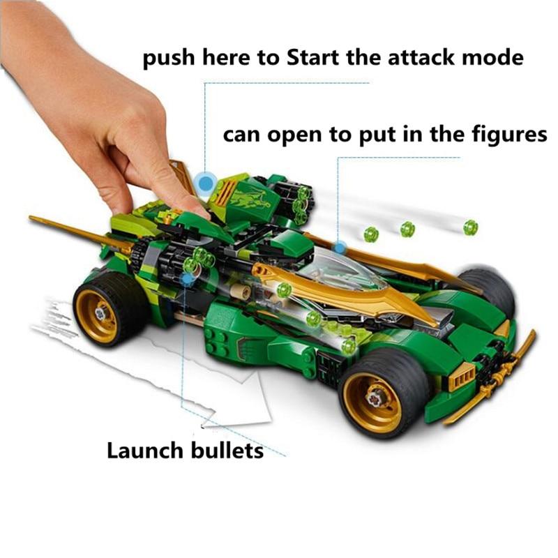 618 قطعة فانتوم النينجا لويدز عالية السرعة المستمر ليلة عربة اللبنات مجموعة ألعاب DIY تربية الأطفال هدايا-في مجموعات البناء النموذجي من الألعاب والهوايات على  مجموعة 1