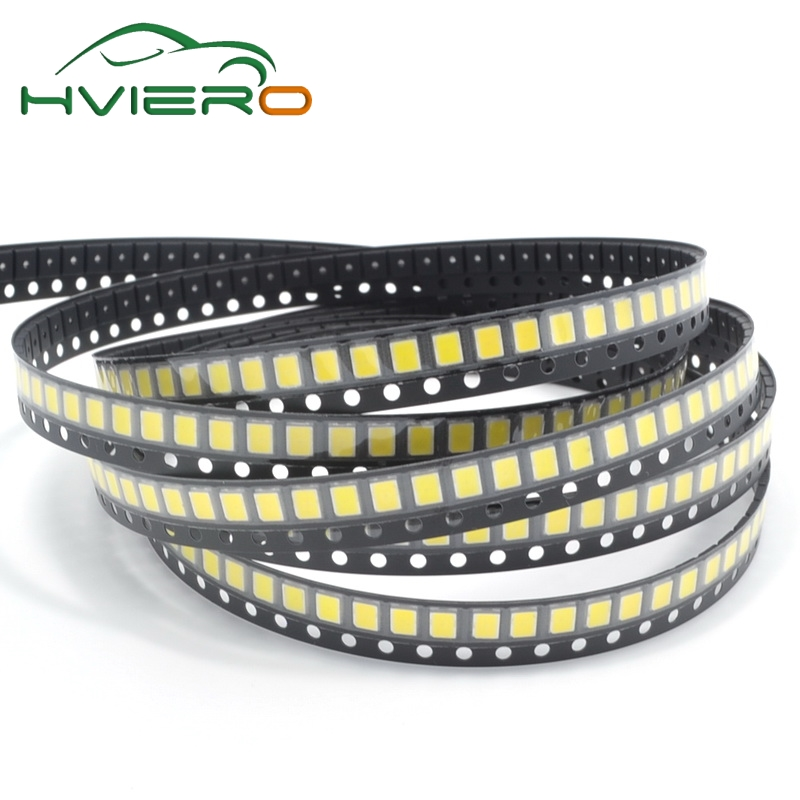 100PCS 22-24 LM White Red Blue Green Pink Yellow Warm White 2835 SMD 6000-6500K 3.0-3.4V LED 0.2W high bright chip leds diode