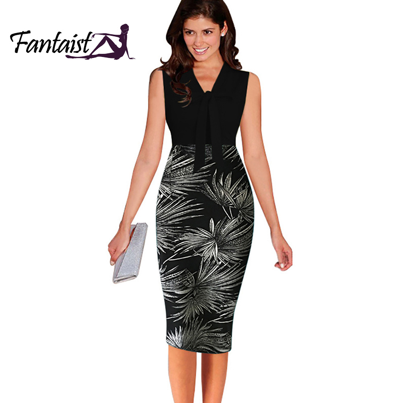 Plus Size S-XXL,2016 Women White Sexy Patchwork Bow Casual Summer Dress,Elegant Cocktail Party Office Bodycon Pencil Dresses