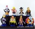 High Quality! 8PCS/Pack Japanese Anime One Piece Dracule Mihawk Marshall D. Teach 8cm PVC Action Figure Collection Model Toys