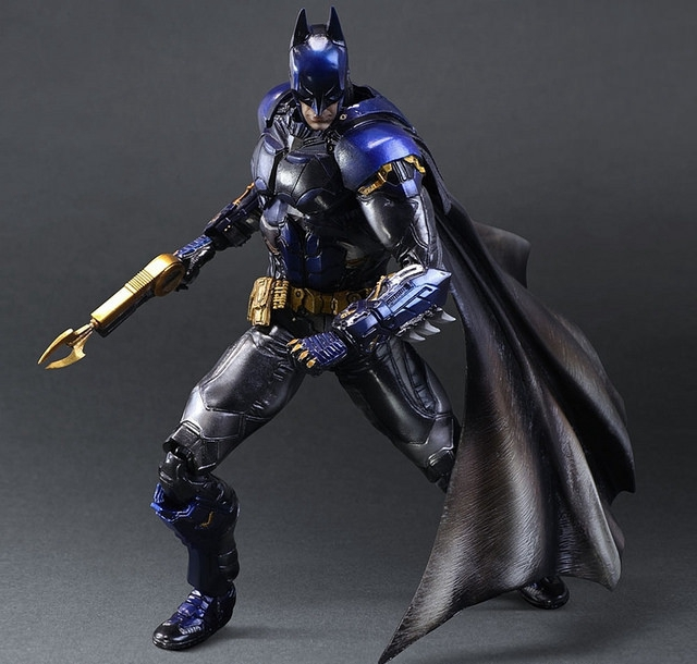 Play Arts Kai Bat Man Bat-man Figure Bruce Wayne Boy Wonder Blue Edition 27cm Play Art PVC Action Figure Doll Toys Kids Gift