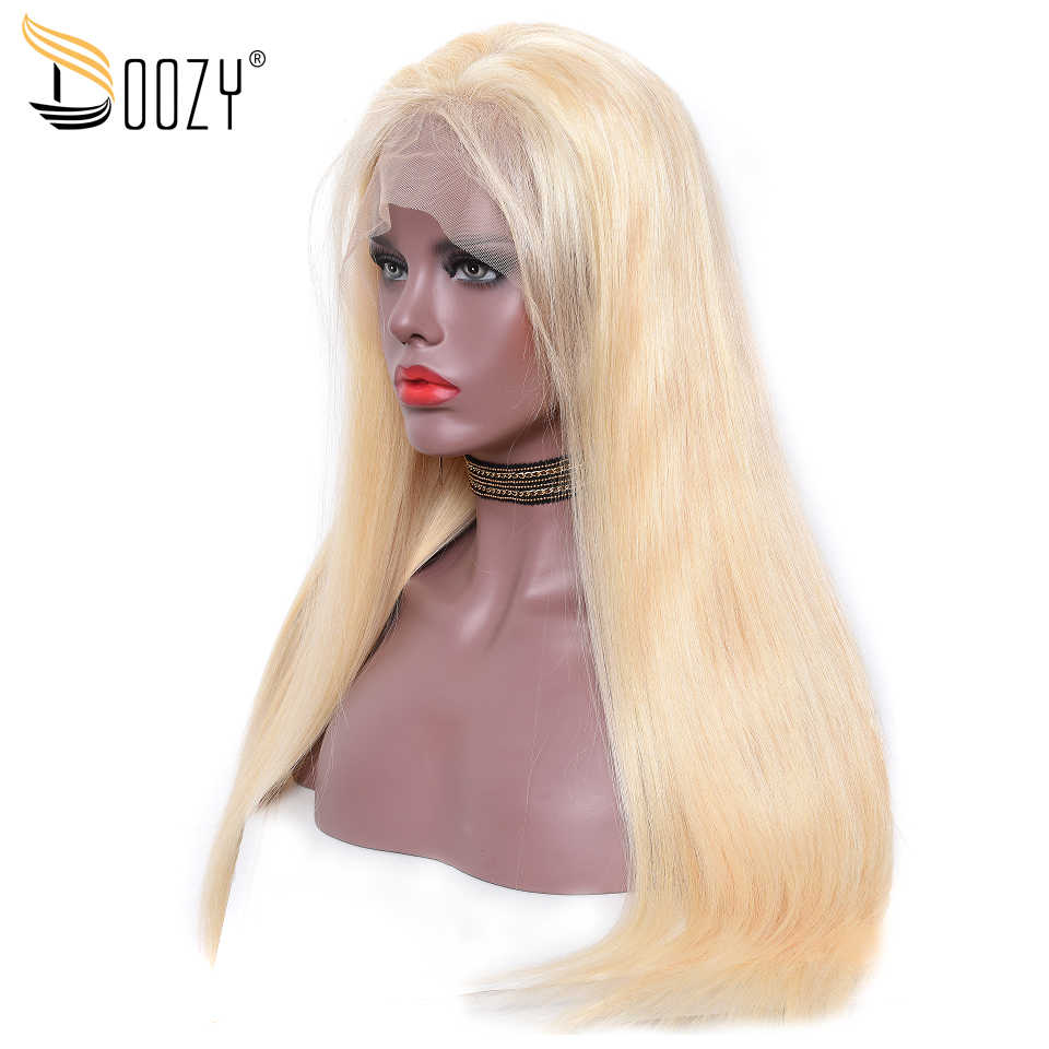 e739ad286 Detail Feedback Questions about Doozy Color 613 Russian Blonde Human Hair  Wigs Pre plucked Straight Remy Peruvian Hair lace front Wig on  Aliexpress.com ...