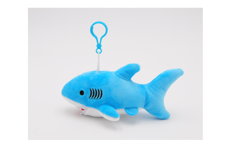 """Happy Shark"" Cute Plush Shark (Random Color blue / grey / pink) 5"