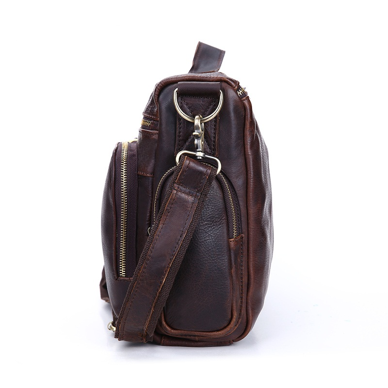 Vintage prave kože muške aktovku torbu poslovne muške laptop - Aktovke - Foto 3
