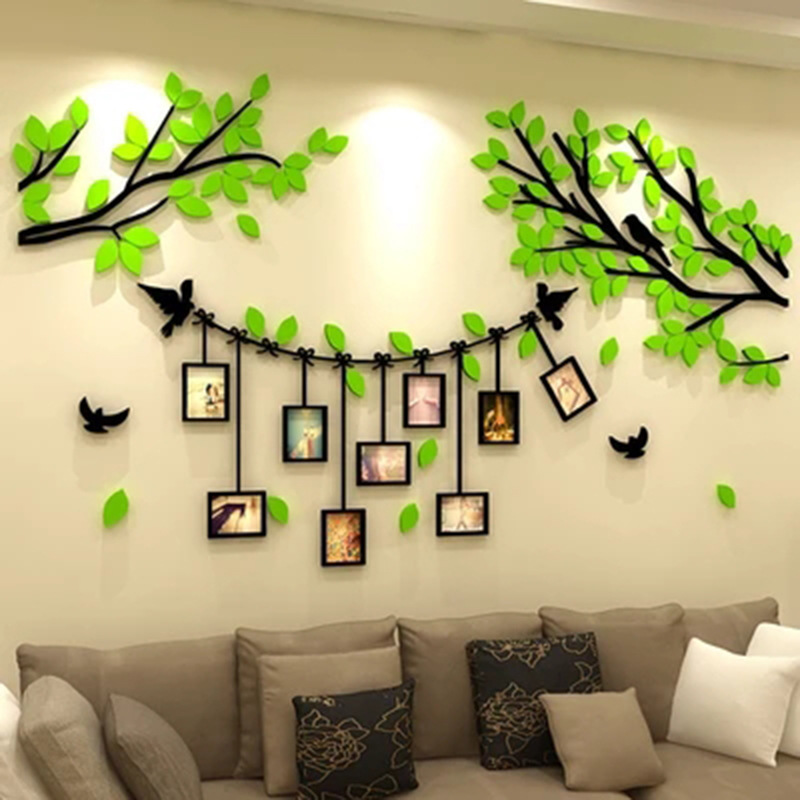 KEDODE 3D Photo Frame Photo Wall Sticker 3d Acrylic Bedroom Living Room Background Warm Decoration Sticker