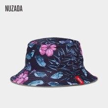 NUZADA marca de impresión de doble cara se puede usar las mujeres pescador sombreros  sombrero de verano de moda Otoño primavera . e725bed9415