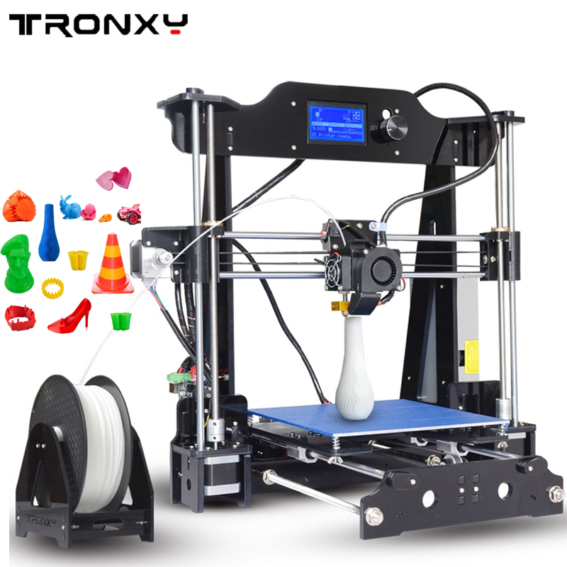 Big size 3D printer High Quality Precision Easy Assemble Reprap Prusa i3 desktop 3d Printer DIY kit with 8GB SD card for free anet a6 3d printer high precision reprap prusa i3 3d printer high quality diy easy assemble filament kit sd card knob lcd screen
