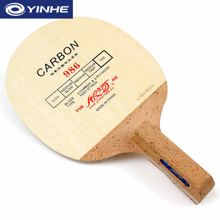 YINHE 986 Korea Style Carbon Table Tennis Blade (5+2 Carbon) Japanese Penhold (JS) Handle Racket Ping Pong Bat Paddle