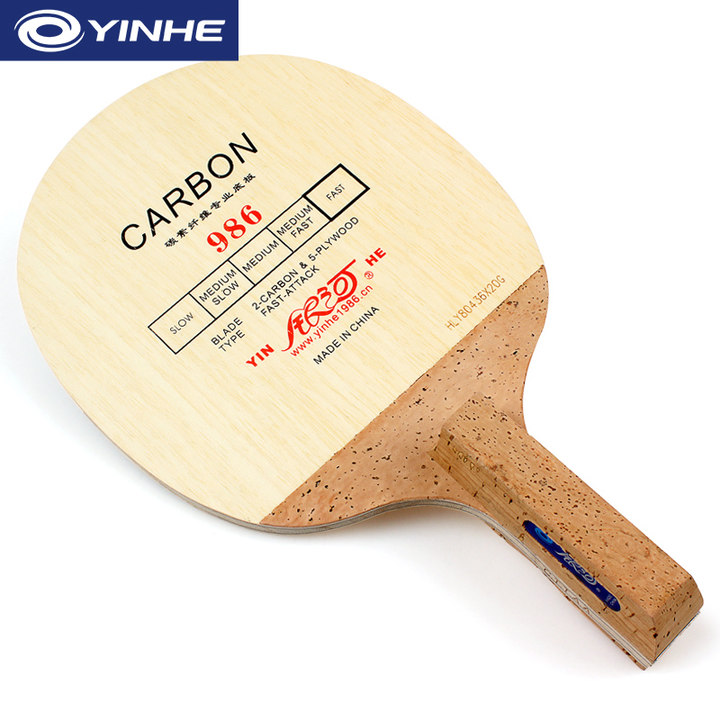 YINHE 986 Korea Style Carbon Table Tennis Blade (5+2 Carbon) Japanese Penhold (JS) Handle Racket Ping Pong Bat Paddle yinhe t 4 t4s table tennis blade t 4s hinoki surface 5 4 carbon t4 racket ping pong bat