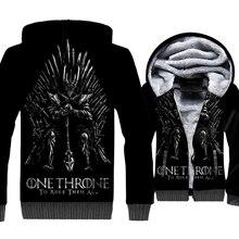 Game of Thrones 3D Print Hoodie Men House Stark Sweatshirt Winter Thick Fleece Zip up Coat One Throne To Rule Them All Jacket