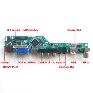 Image 2 - B154EW02ためV6 V7 vga hdmi av usb rf t。v56コントローラボード1ccfl 30Pin lvdsリモート + インバータ + キーボードlcdディスプレイパネルのdiyキット