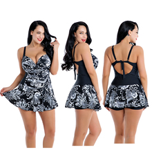 2019 One Piece Swimsuit Plus Size Swimwear Women Womens One-piece Large Underwire Swimdress Swim Dress