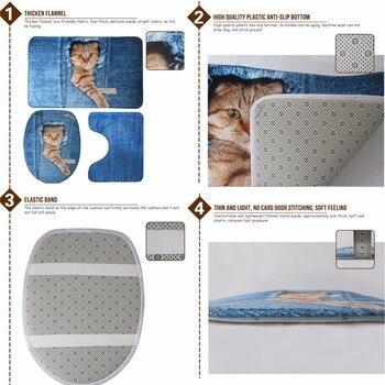 Weicher Toilettensitz | HUGSIDEA Französisch Bull Hund Floral Wc Sitz Abdeckung Umweltfreundliche Mantel Wc Fall 3 Teile/satz Badezimmer Dekor Wärmer Weiche Teppiche