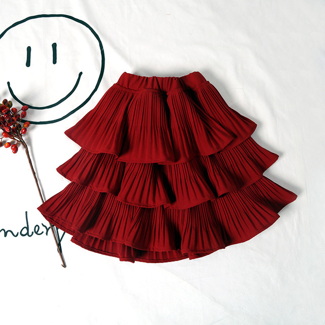2017 Wholesale hot spring fashion girls cotton cakes skirts