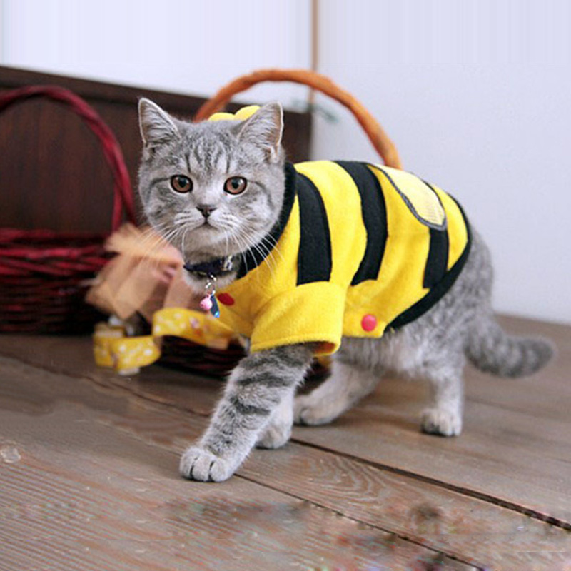 2016 Hot Sales Pet Dog Cat Bumble Bee Wings Fleece Hoody