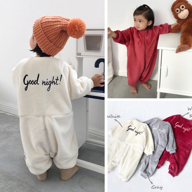 0ef6851dcf30 Children Clothing Winter Flannel Onesies Pajamas Sleeper For Baby ...